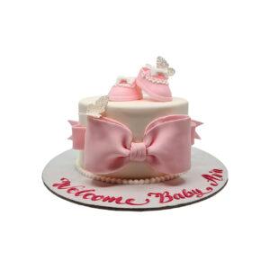 Pink Papillon Cake