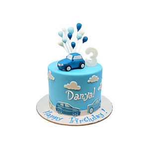 Birthday Blue Car Cake