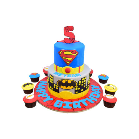 Super Man Birthday Cake