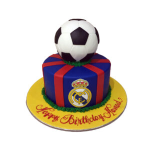 Barcelona Football Cake