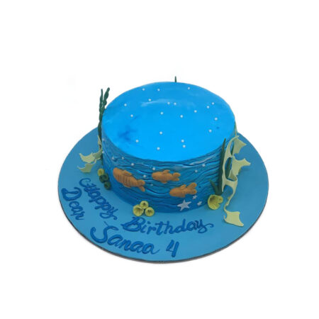 Blue Ocean Birthday Cake