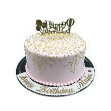 Golden Pearls Birthday Cake