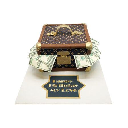 LV Suitcase Cake