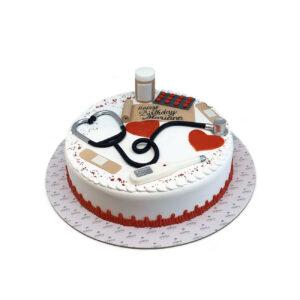 Medical Theme Birthday Cake