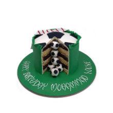 Mini Football Balls Birthday Cake