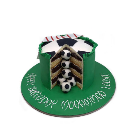 Mini Football Balls Birthday Cake