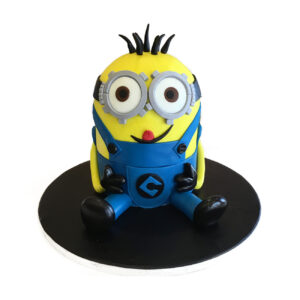 Single Minion Birthday Cake