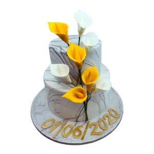 Lily Flower Wedding Cake