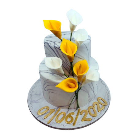 Lily Flower Wedding Cake