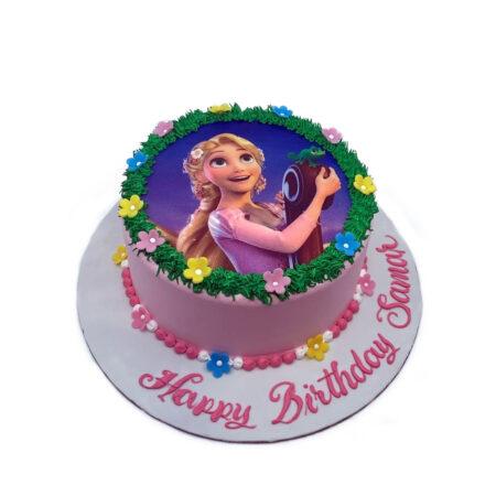 Rapunzel Birthday Cake